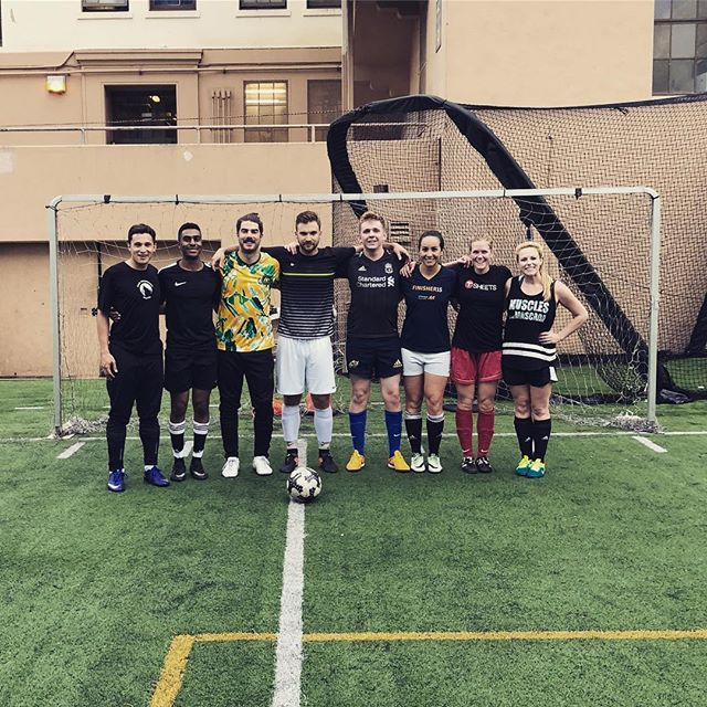 Rec soccer never looked so good 😏 Cheers to the #ExpensiBallers (and our friends from @foresightasg and @docusign) who just kicked off their 5th season this week with a win! #sftech #startuplife #afterschoolactivities #lovewhatyoudo #recsoccer #techjobs #teamgoals @norcal_athletics
