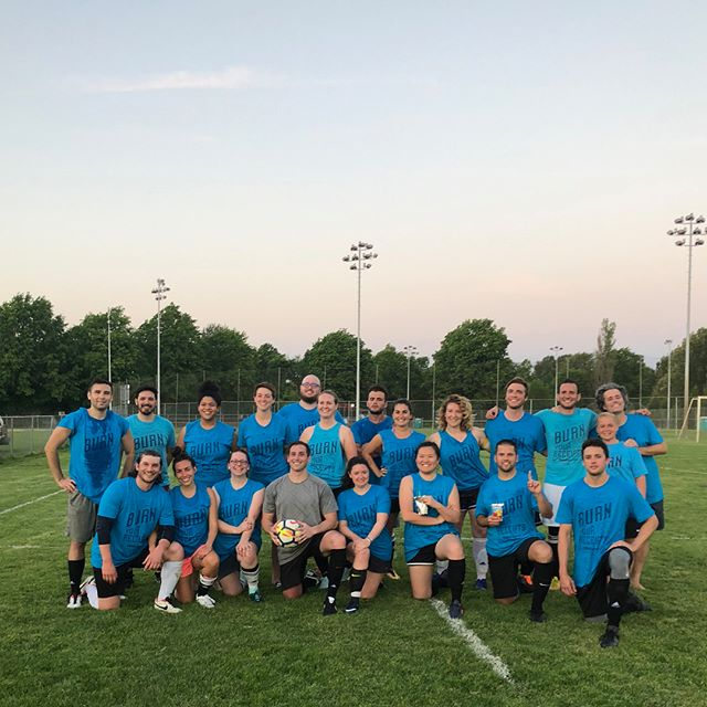 Summer is here, just in time for the #Portland team's soccer debut! Team #Goals (get it??) crushed their first league game last night with a big W... scoooooooore! #squad #recsports #pdxtech #pdxlife #lovewhatyoudo #burnyourreceipts #summertime #werehiring