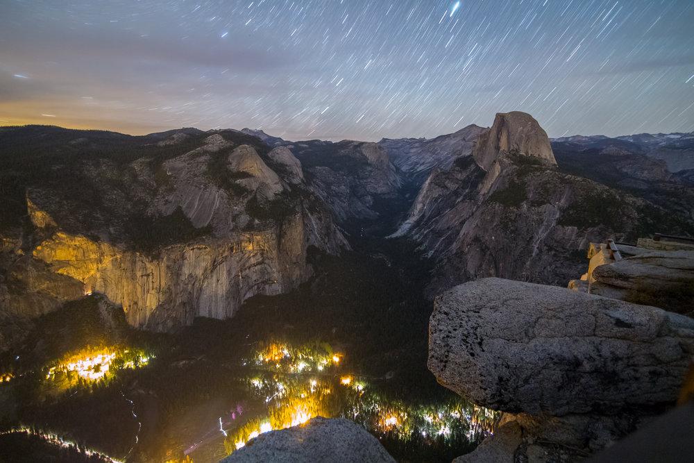 Star Trails Over Yosemite