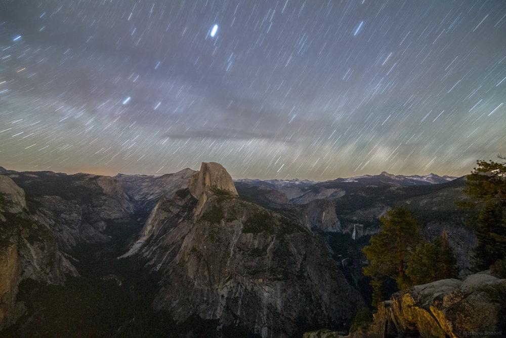 Star Trails Over Yosemite II