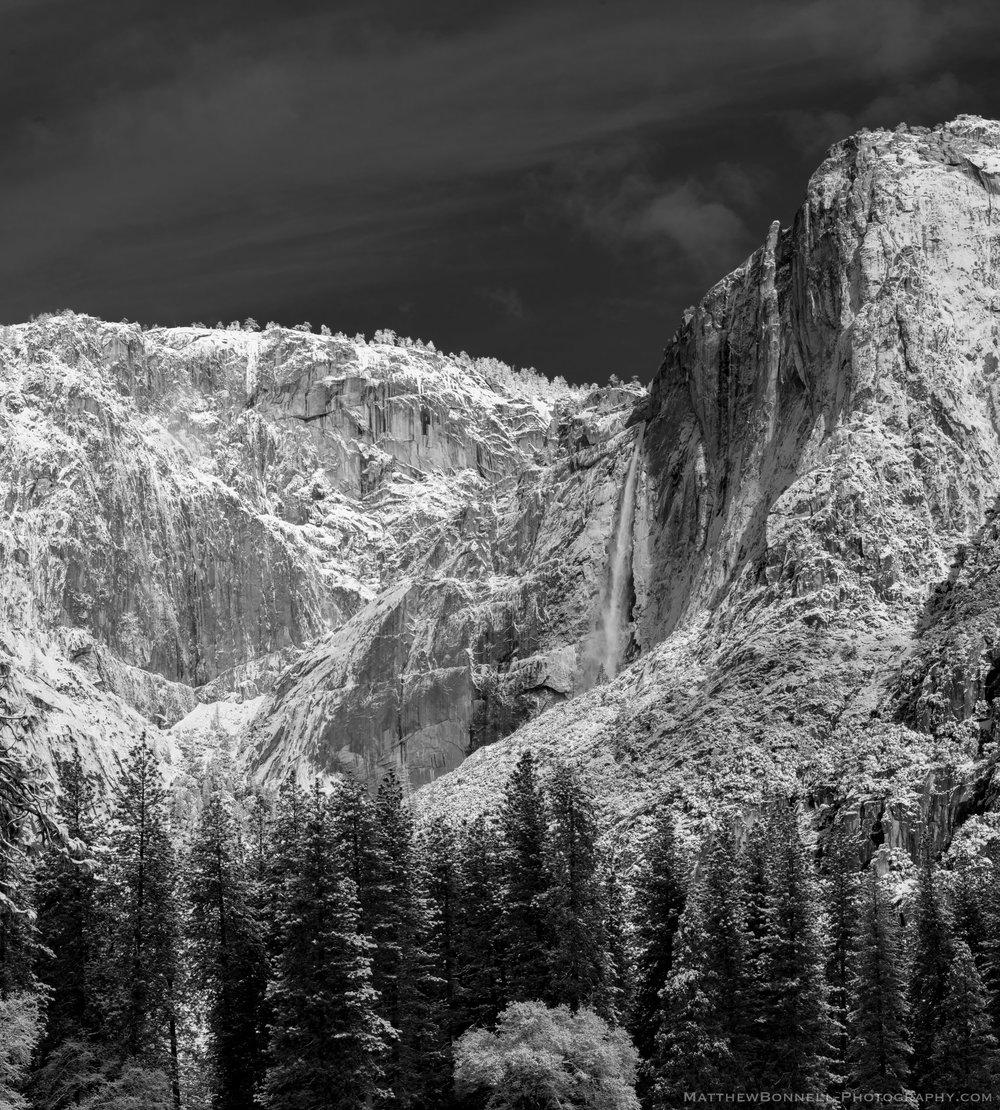 Frost on Yosemite Falls