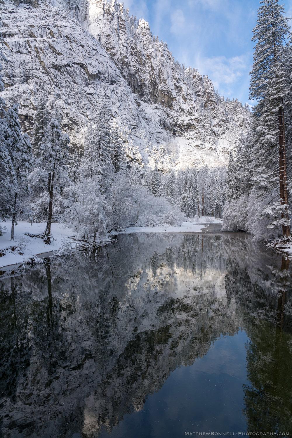 Snow Dappled Reflection