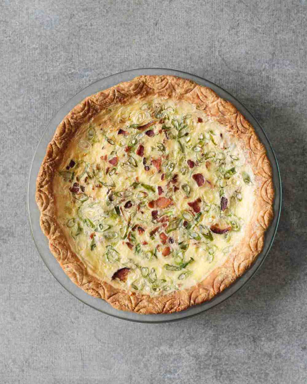 This is the photo from the original recipe source on  Martha Stewart . My quiche turned out almost exactly the same, although I couldn't take such a nice photograph, so you'll have to use your imagination.