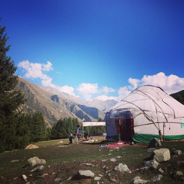 Do impress your friends by telling them you've slept in a yurt. Like this one, in Jeti-Orghuz, Kyrgyzstan. photo:  jensetgo