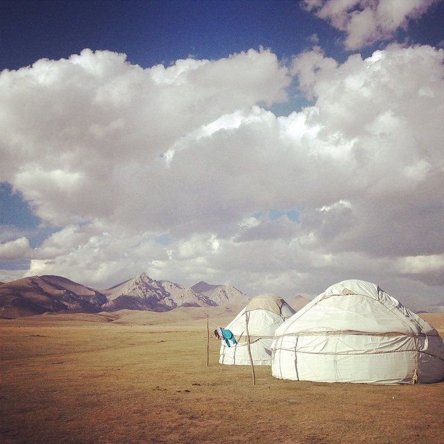 Yurts at Song Kul Lake, Krygzstan. There is absolutely no Internet here. And that is an absolute relief. photo:  jensetgo