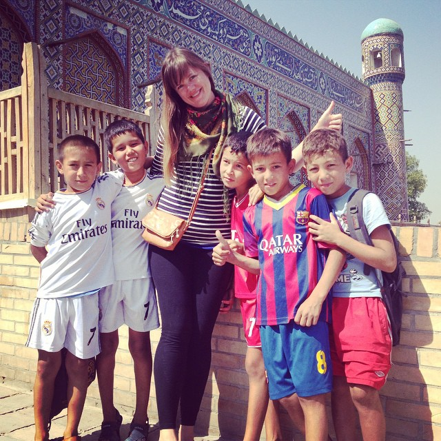 Do talk to people. Like these cute boys I met in Kokand, Uzbekistan who graciously posed for a photo with me. photo:  jensetgo