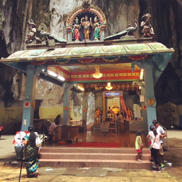 A temple inside one of the caves at Batu.
