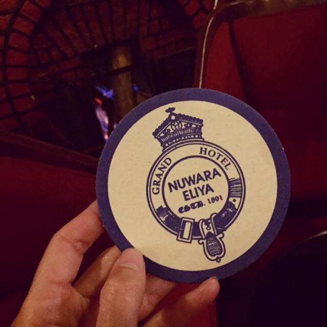 A prop straight from a Wes Anderson film: beer mat at the Nuwara Eliya Grand Hotel bar