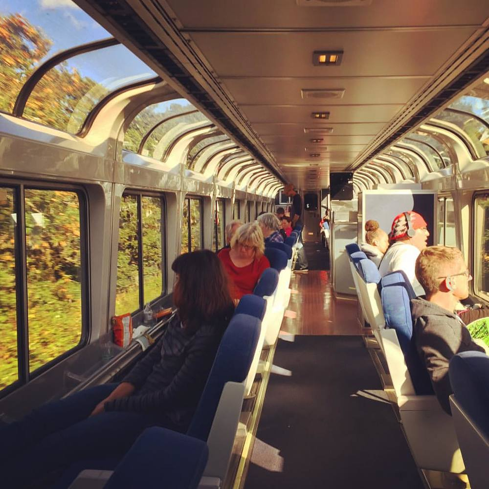 A train with a view: the Cascades line observation car