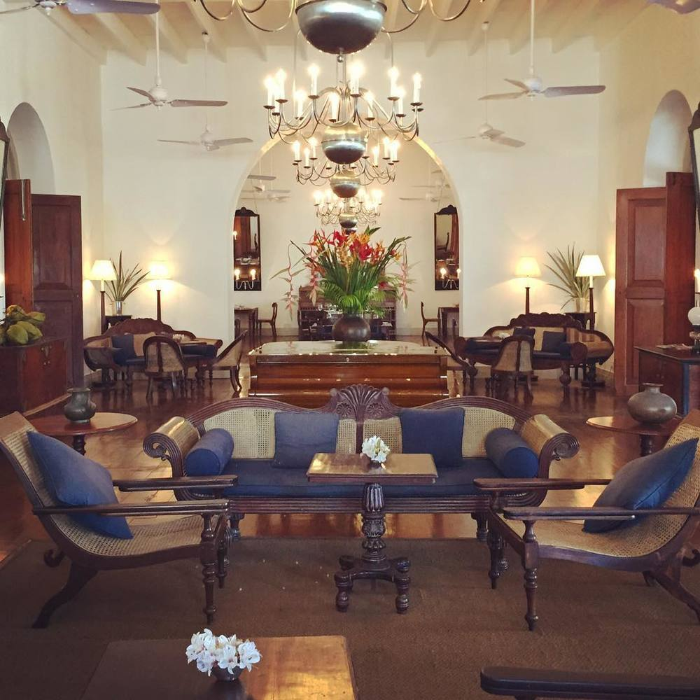 Brush your hair and get your fancy on at the Amangalla Hotel in Galle