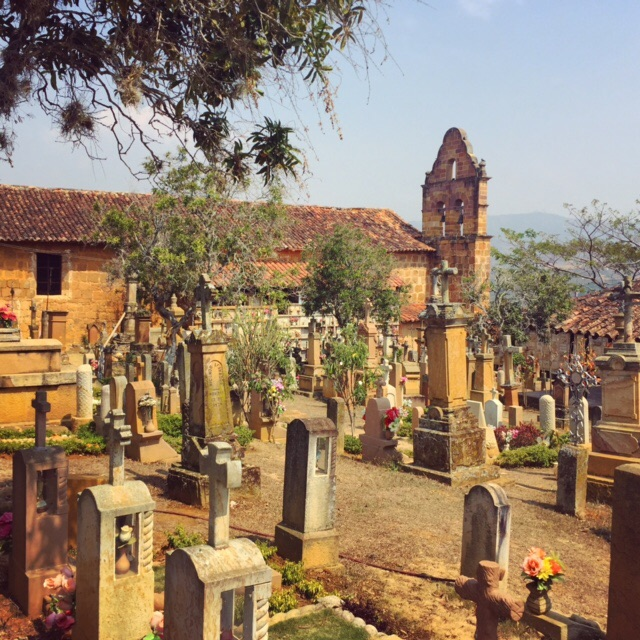 The cemetary at the Capillo de Jesús Resucitado in Barichara, Colombia