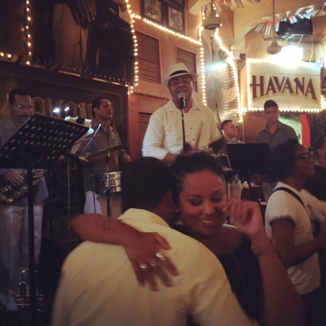 Salsa-ing the night away at famous Cafe Havana