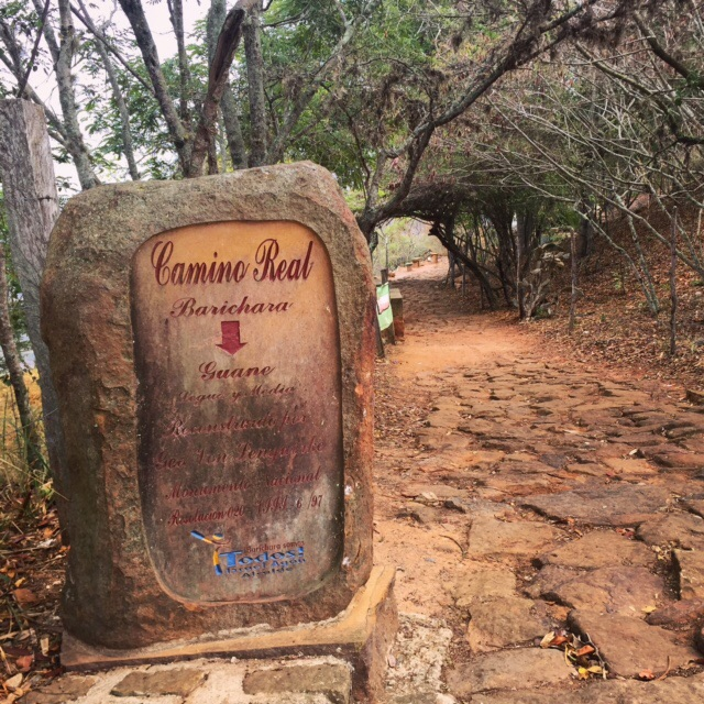 The entrance to the Camino Real in Barichara — you can't miss it! (See how easy this is?)