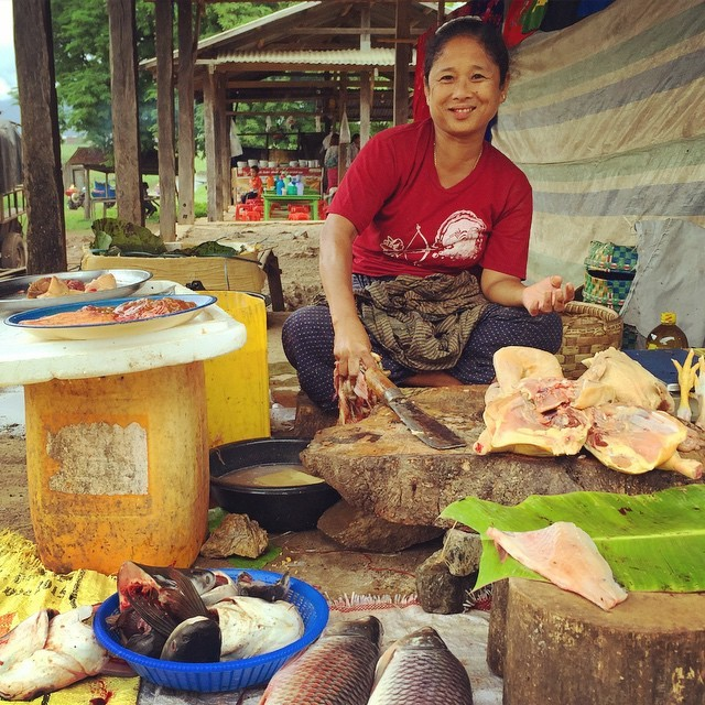 Woman in a market in Inle Lake, Myanmar. She does NOT accept credit cards, although maybe Venmo.