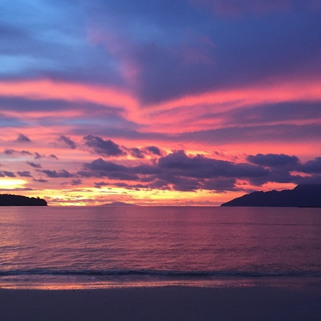 Hands down the most spectacular sunset I've ever seen. Langkawi, Malaysia