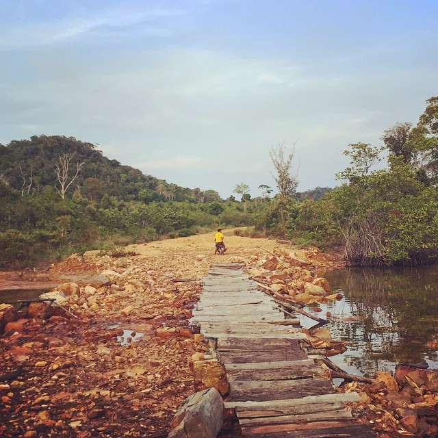 Being rescued/transported to Damskal Village on the other side of Koh Rong, Cambodia