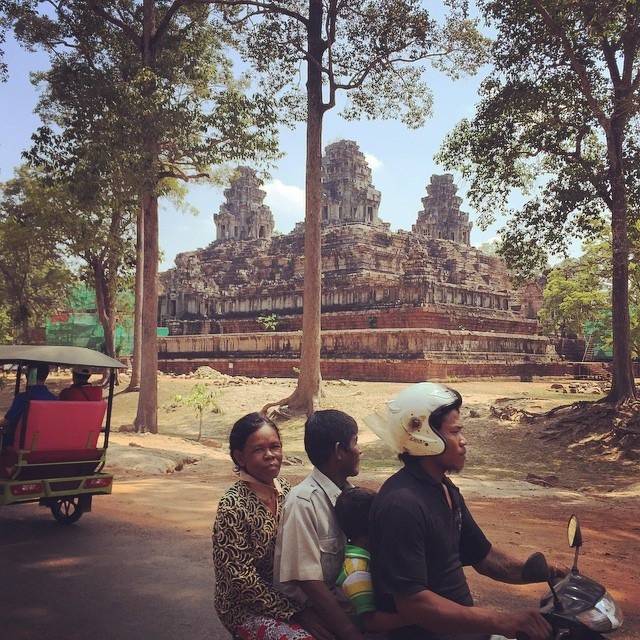 Motorbiking around Angor Wat, Cambodia