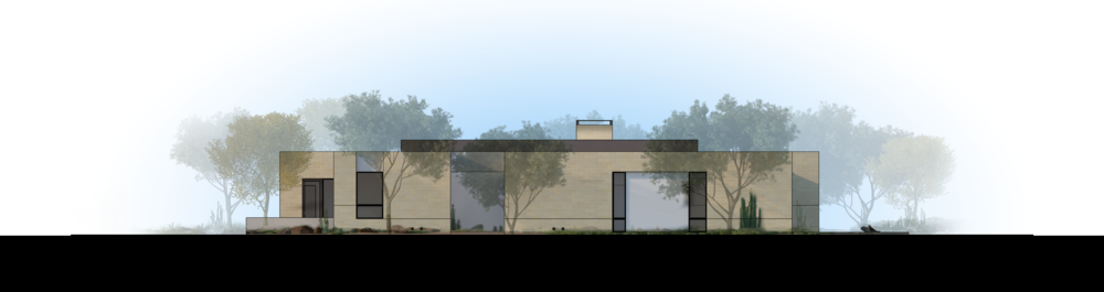 Palo Verde Lane Rendered Elevation 1