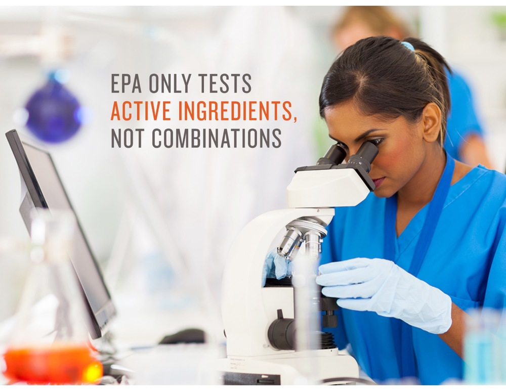 "EPA requires safety testing only on the pesticide product's active ingredient, even though ""inert ingredients"" in pesticide formulations can be toxic in their own right, or increase the active ingredient's toxicity."