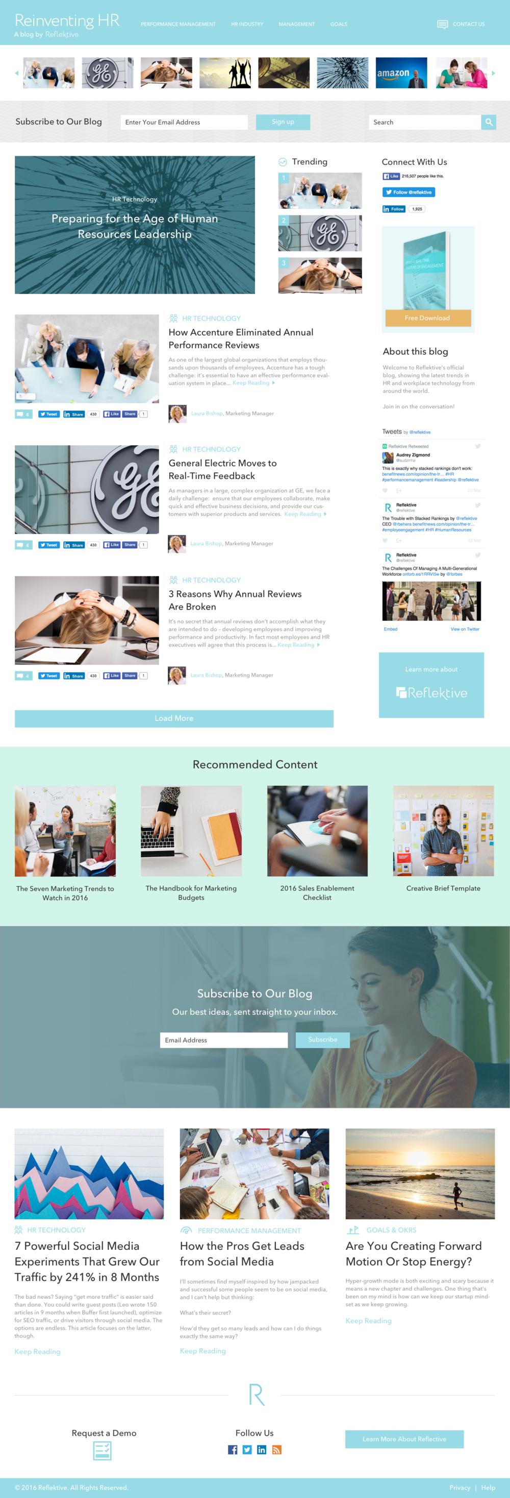 Blog Section Design