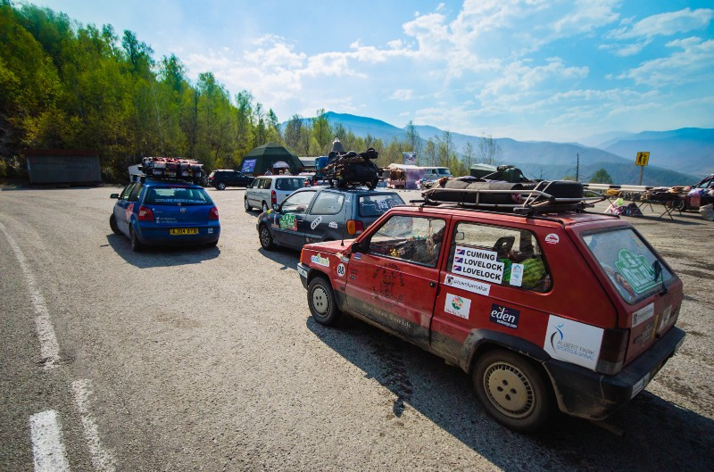 Our three teams enjoyed a gorgeous drive through the Altai mountains in Russia…