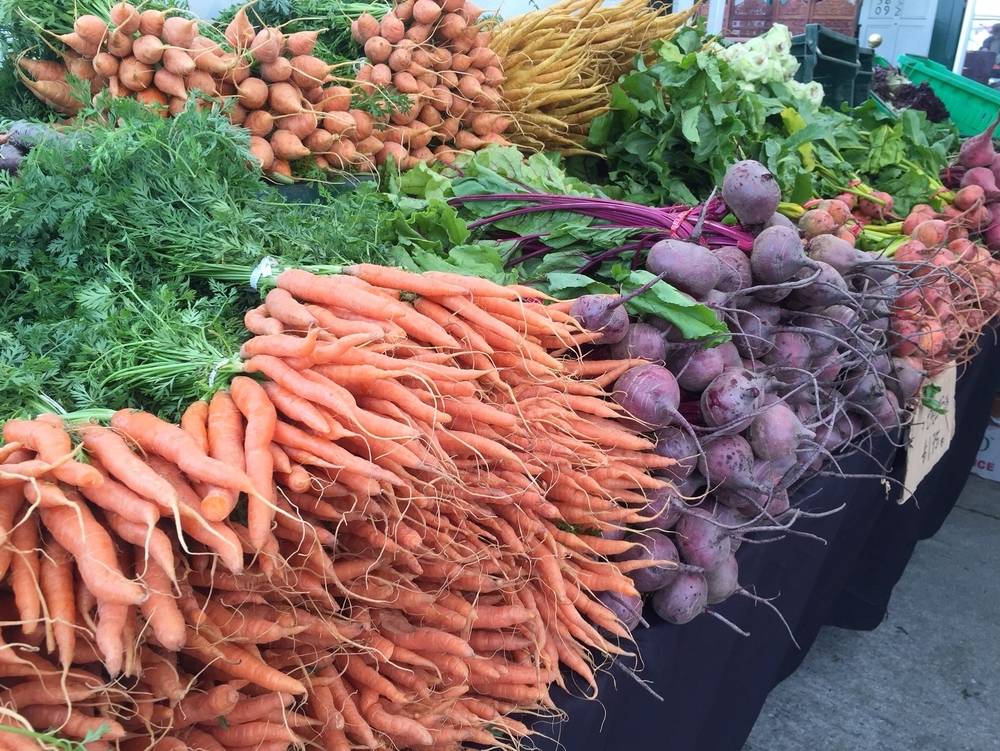 beautiful farmers market vegetables