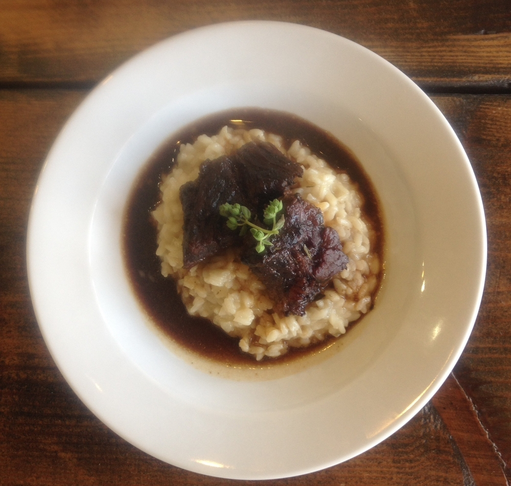 braised beef with risotto