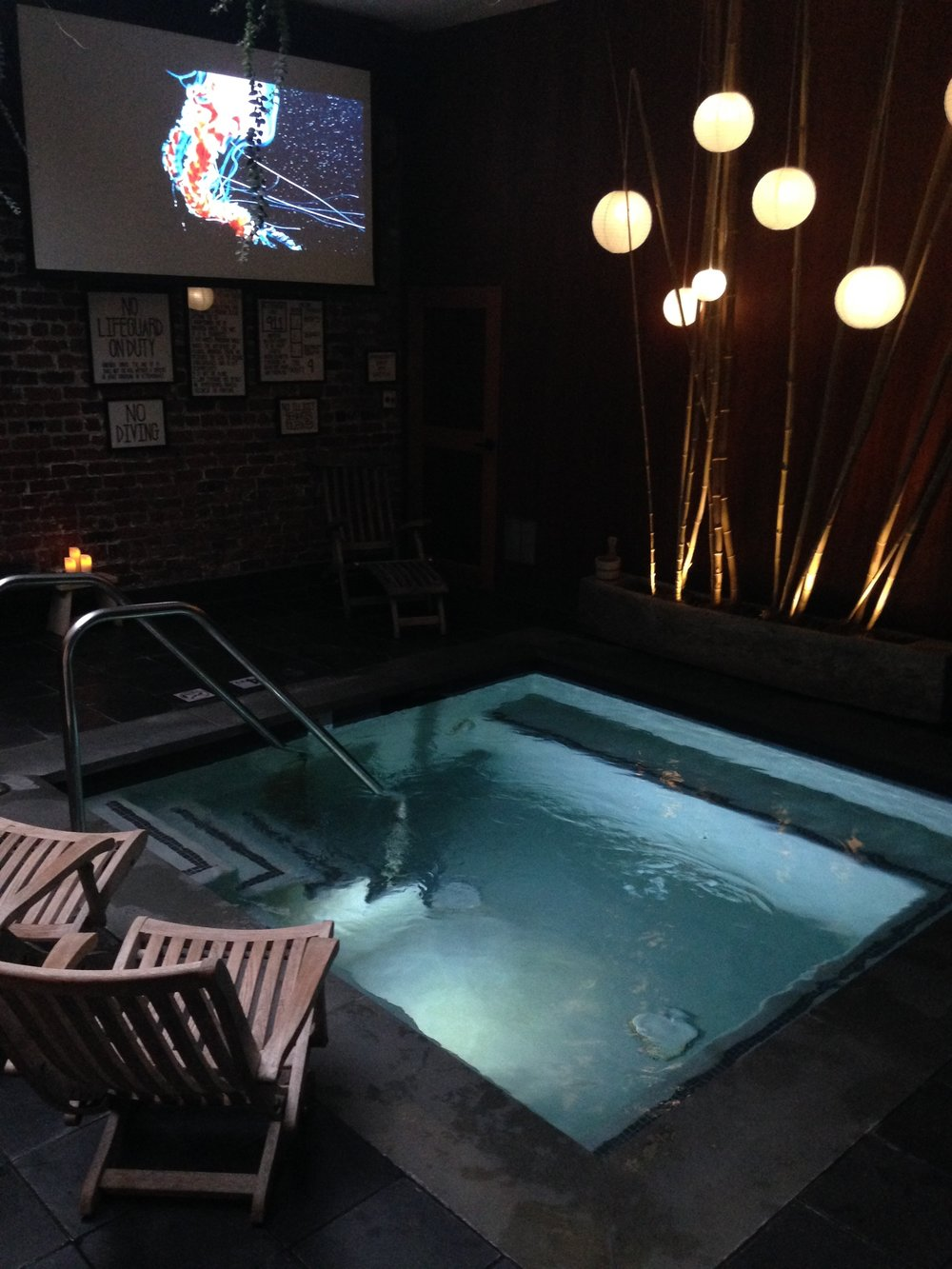 Movie Night at Onsen communal bathhouse