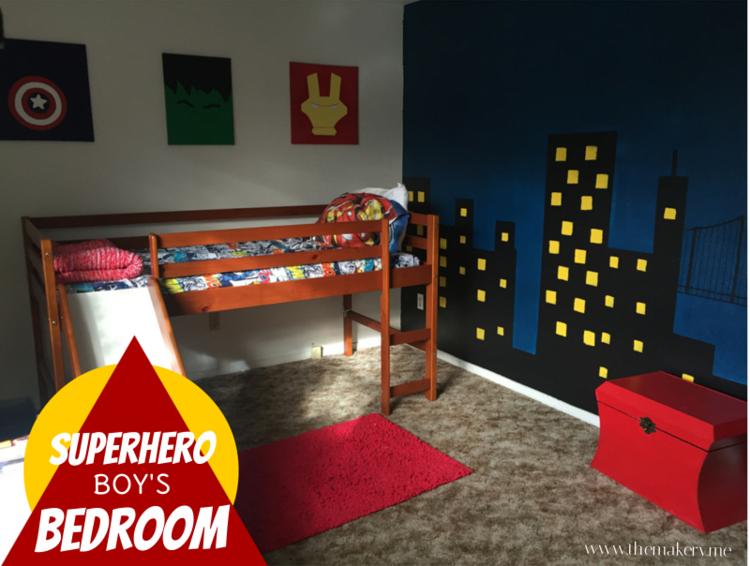 kid 39 s superhero bedroom the makery