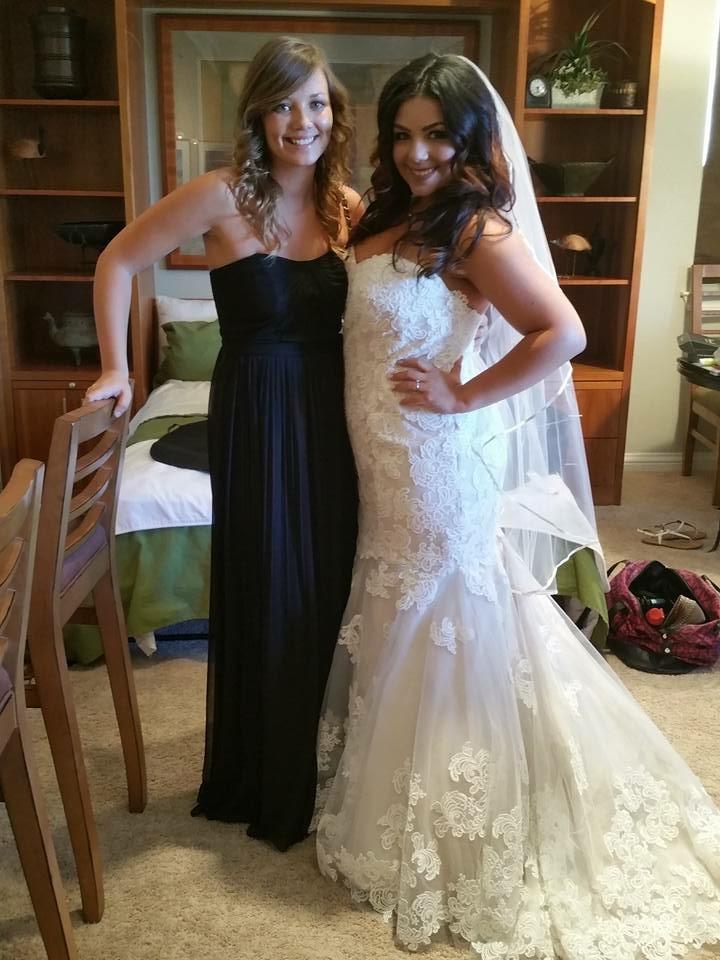 """My """"baby"""" cousin & bridesmaid, Morgan."""