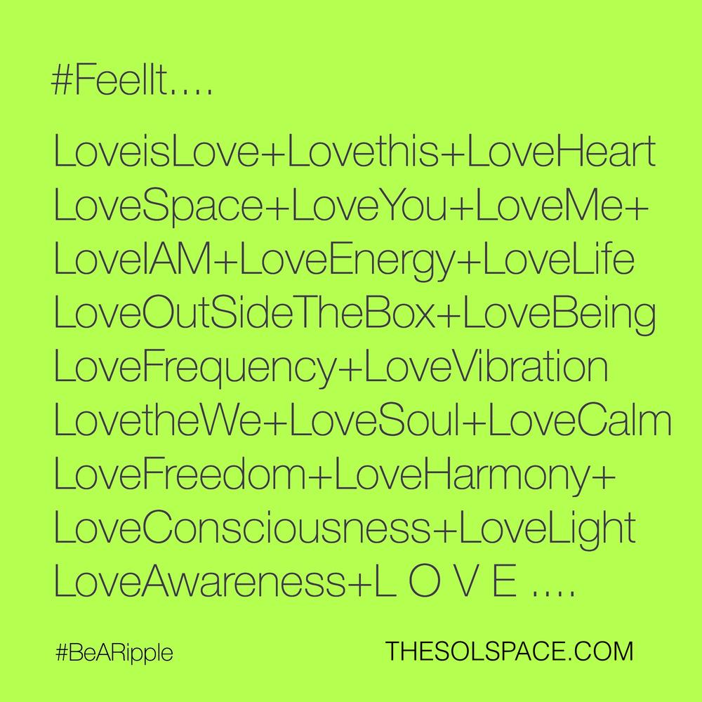 #BeARipple.. @theSOLspace