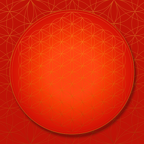 SOL-LIBERATION Sacred Geometry Art Flower of Life Root Chakra #theSOLspace SOL-Art © All Rights Reserved