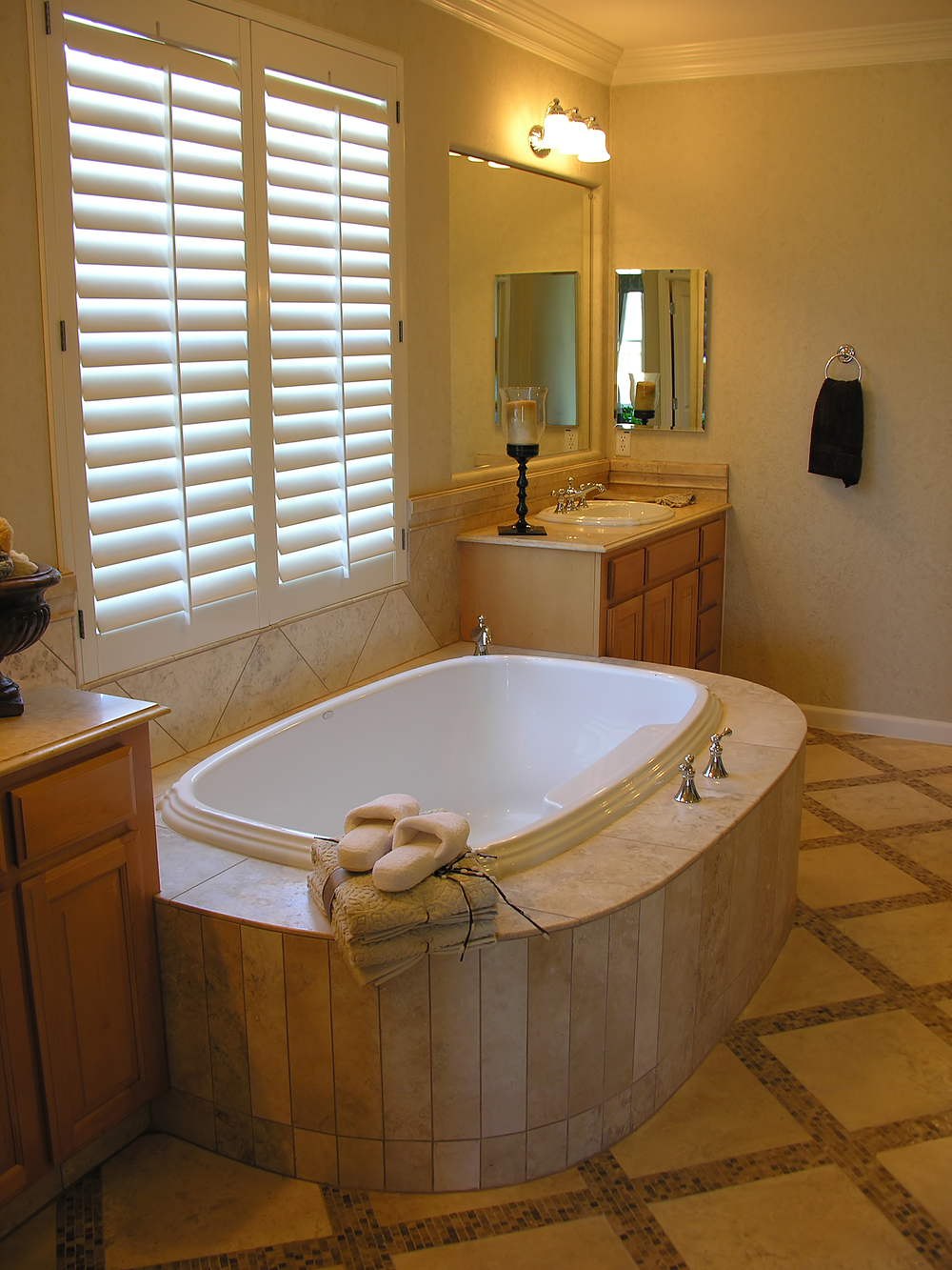 Bathroom window shutters