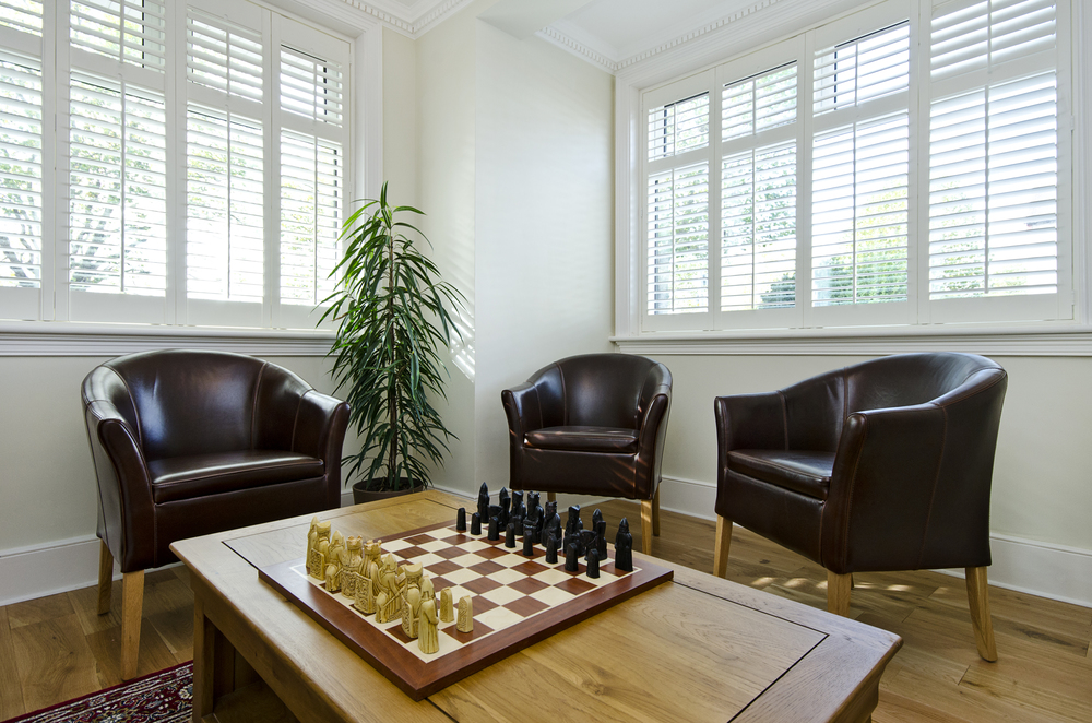 American shutters in games room