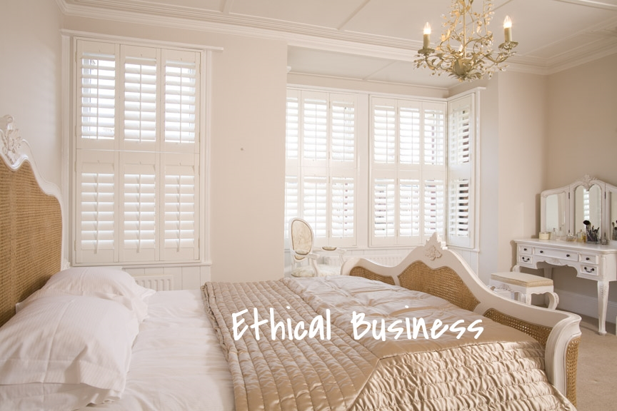 White wood shutters Bournemouth