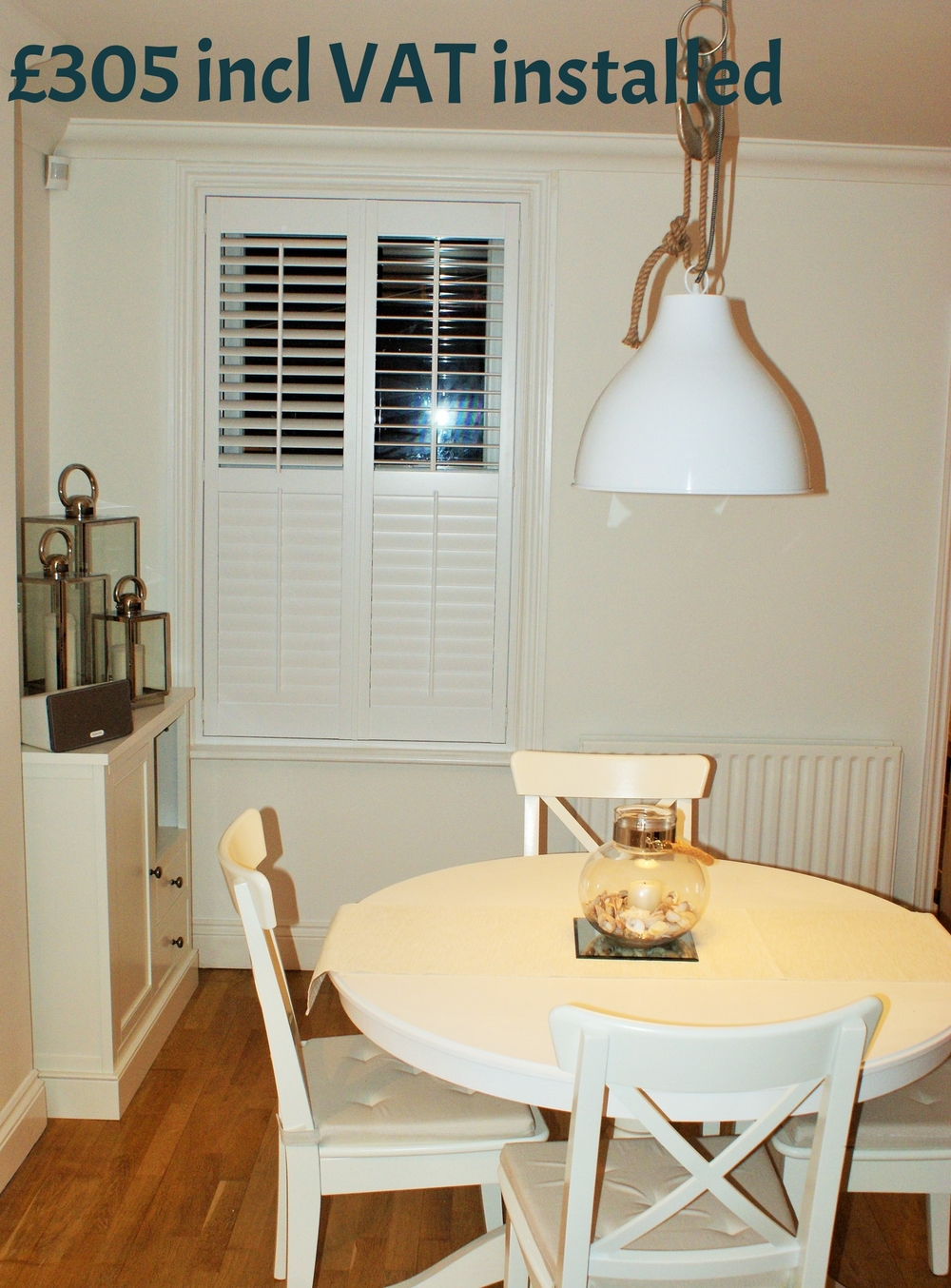 interior-shutters-kitchen-diner-Poole, Dorset