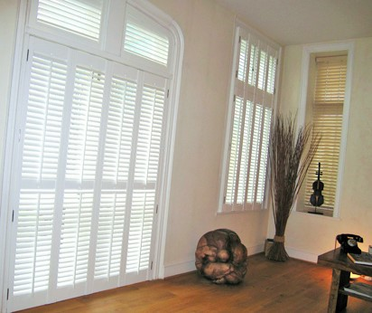 Plantation shutters on double door Southampton Winchester Portsmouth
