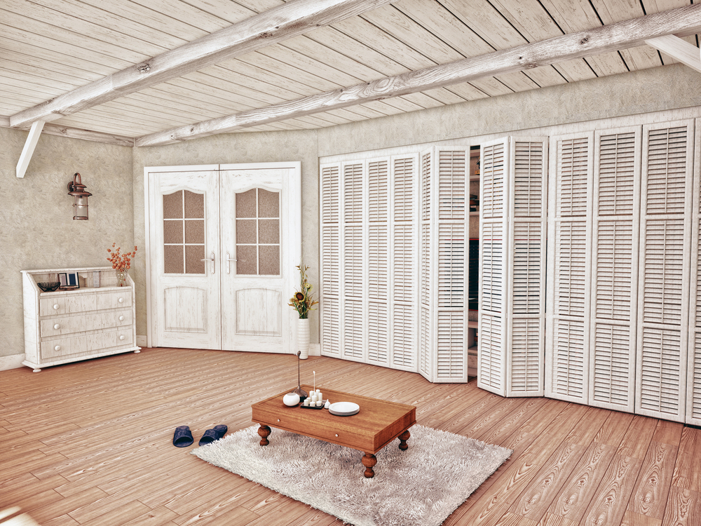 Plantation shutters as wardrobe doors