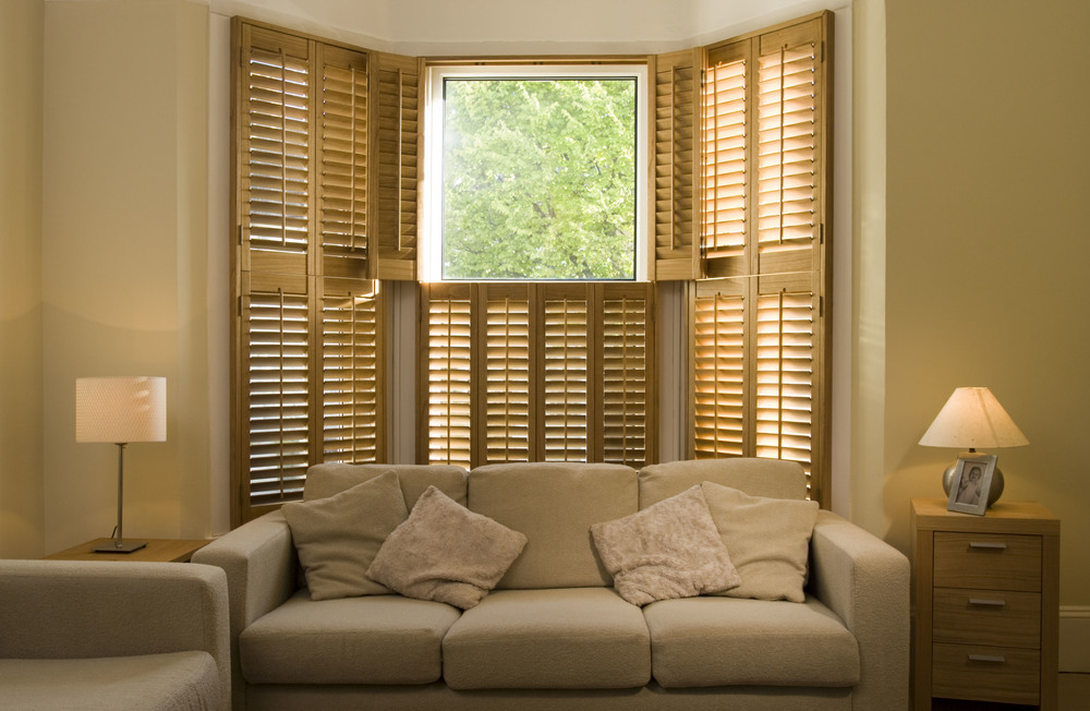 Tier on tier wooden shutters Bournemouth Dorset