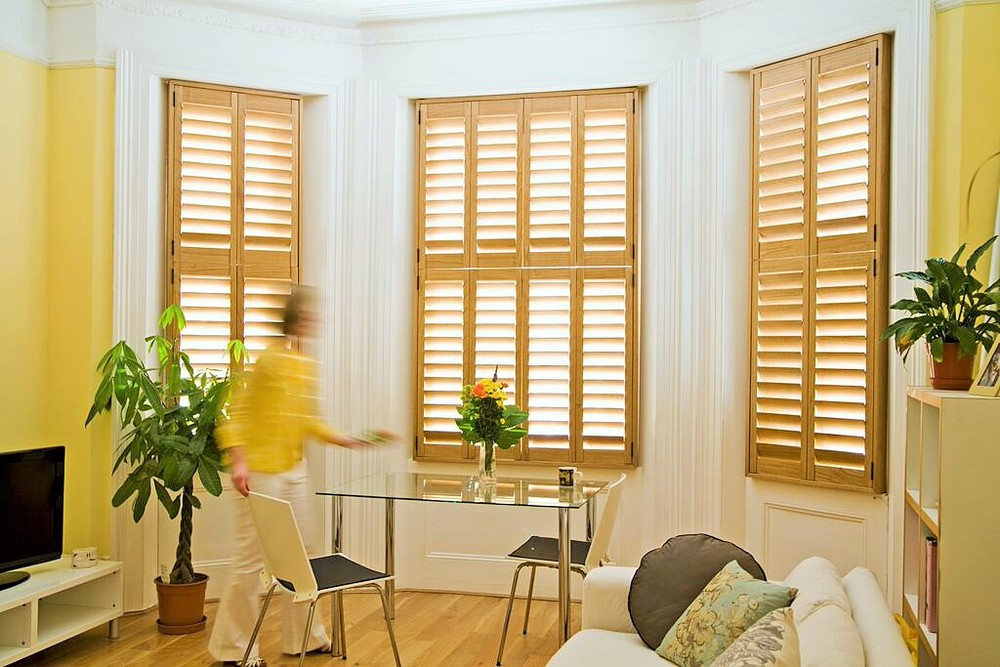 Interior wooden plantation shutters Southampton New Forest Hampshire