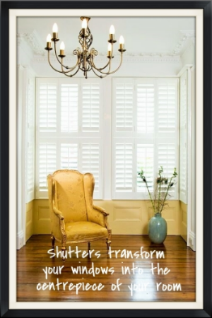 White timber shutters Southampton