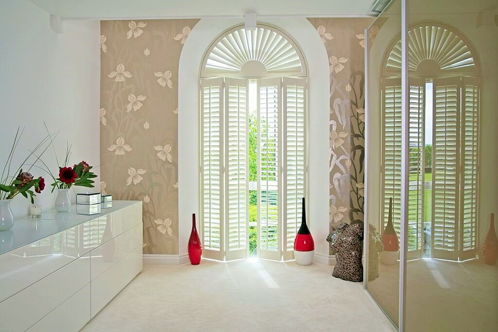 Special shapes wooden plantation shutters Bournemouth