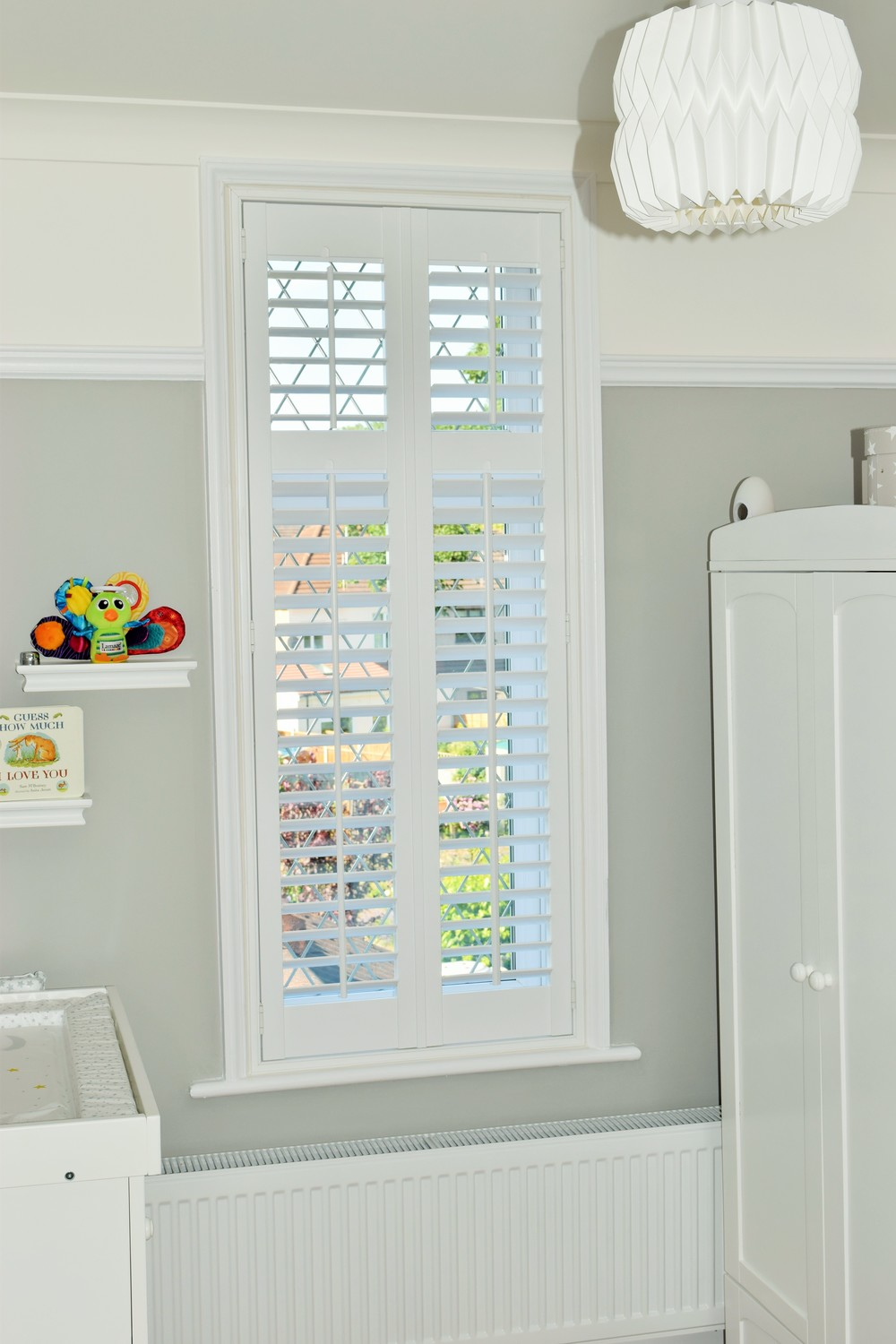 Wooden interior plantation shutters kids room Dorset Hampshire