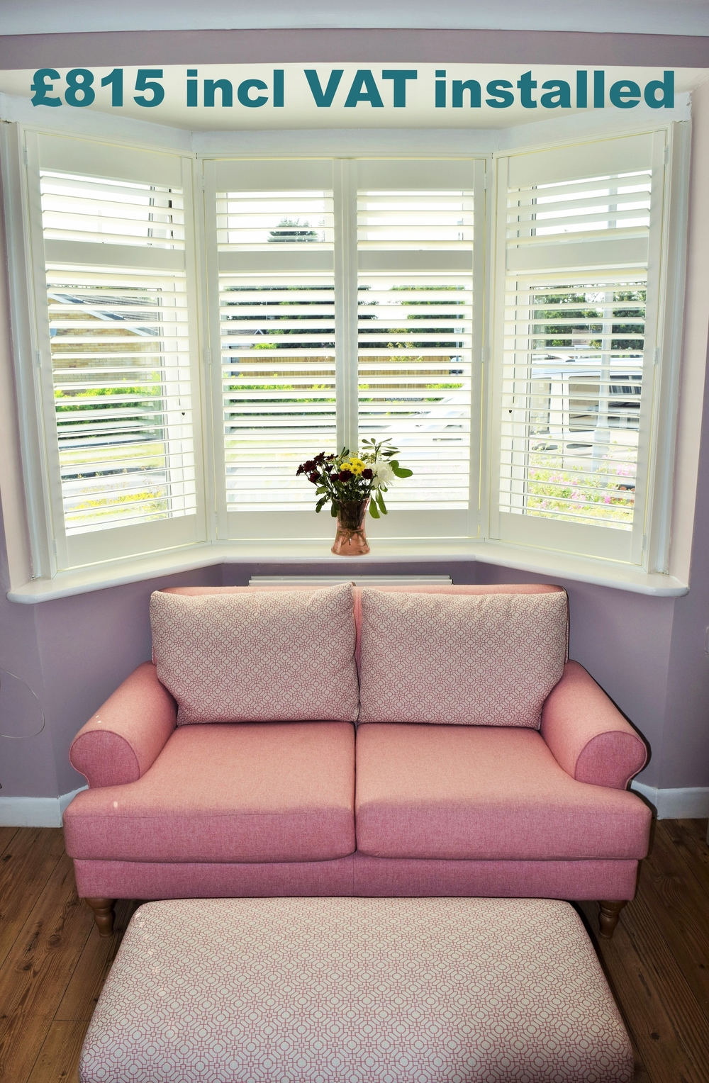 Bay window shutters Bournemouth and Poole Dorset
