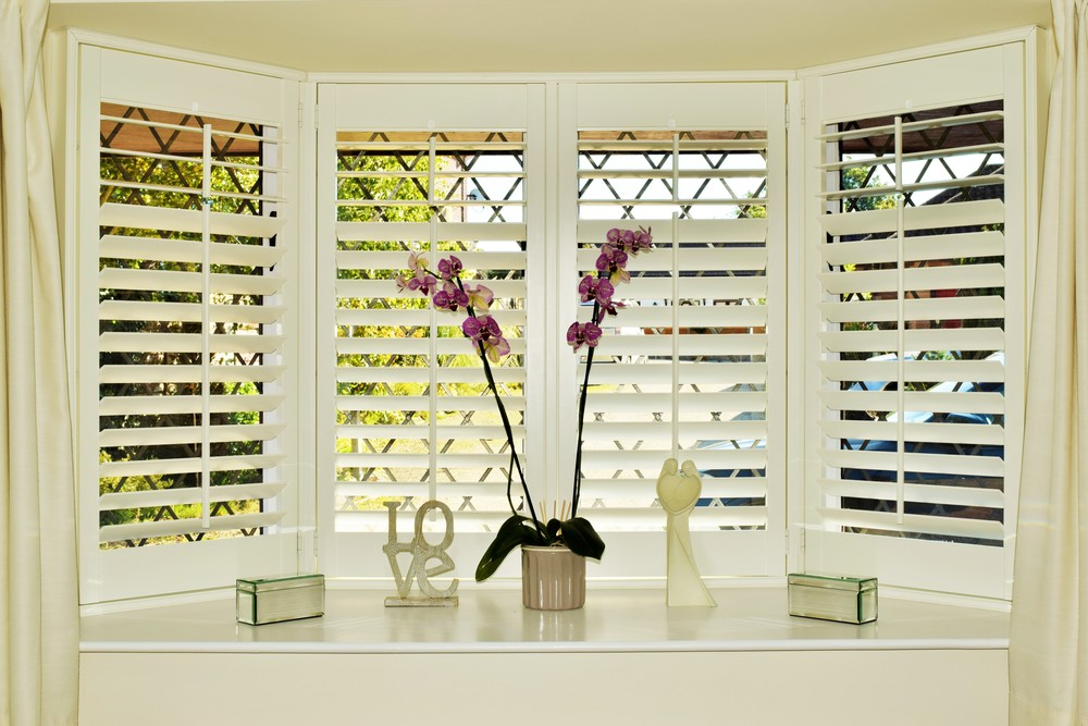 Bay window shutters Dorset