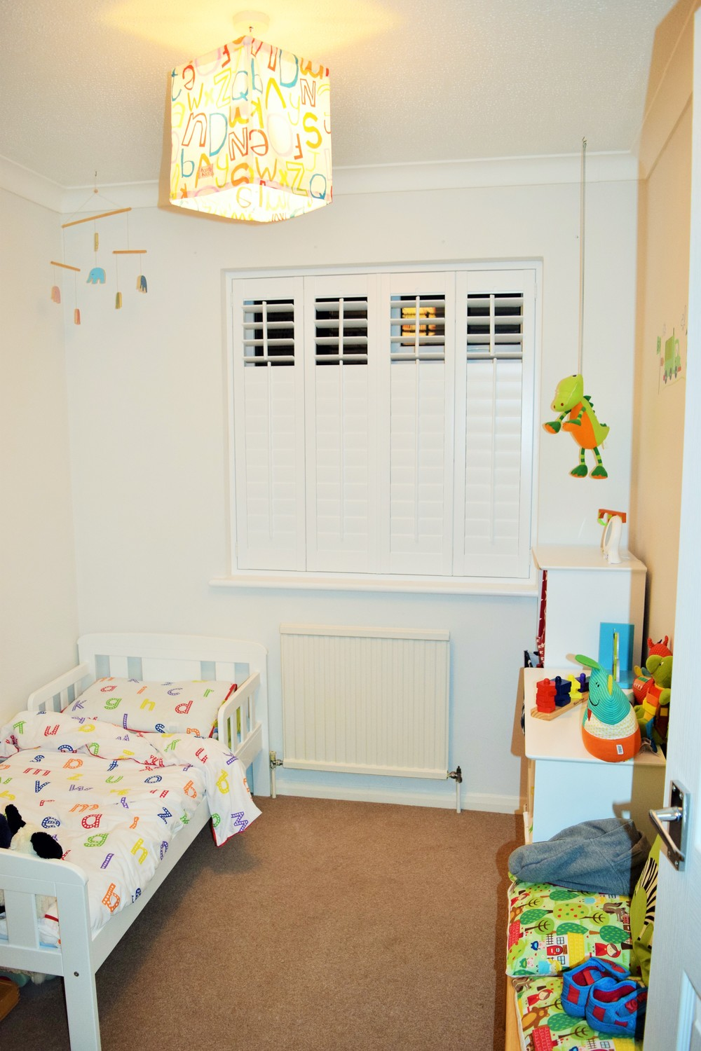 Kids room plantation shutters