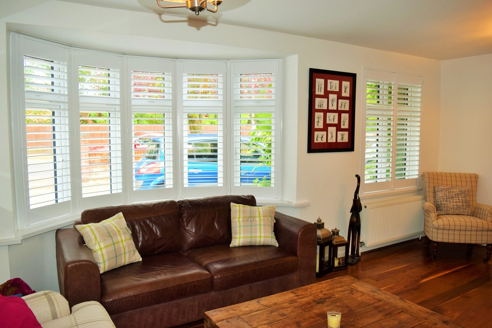 Bay window shutters Bournemouth Dorset