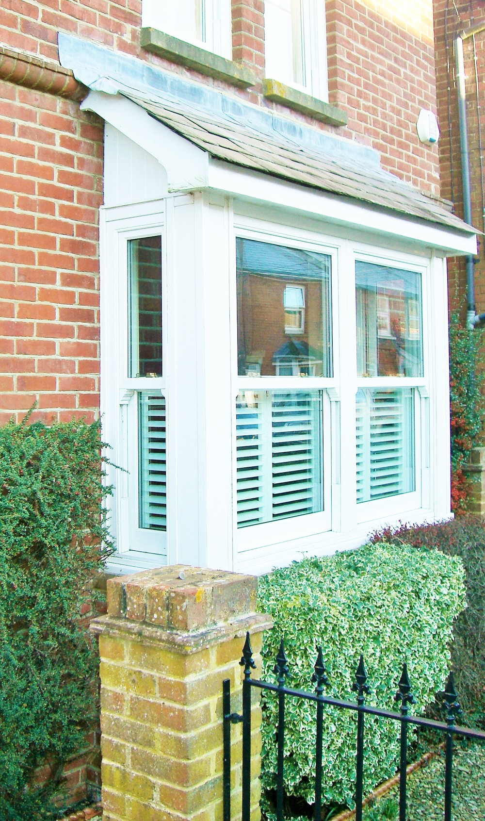 Wooden cafe style shutters Christchurch Dorset