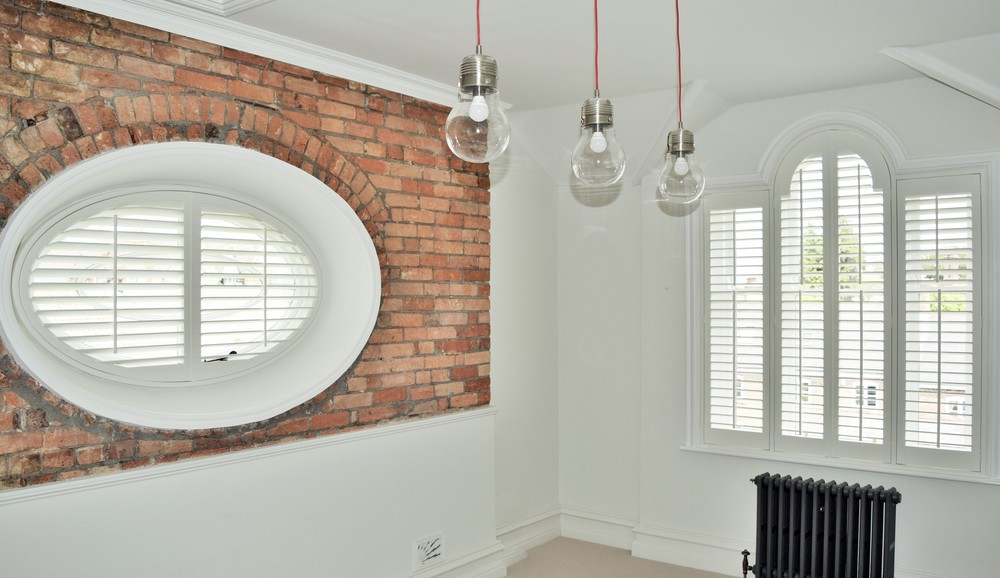 Special shapes Plantation shutters Dorchester