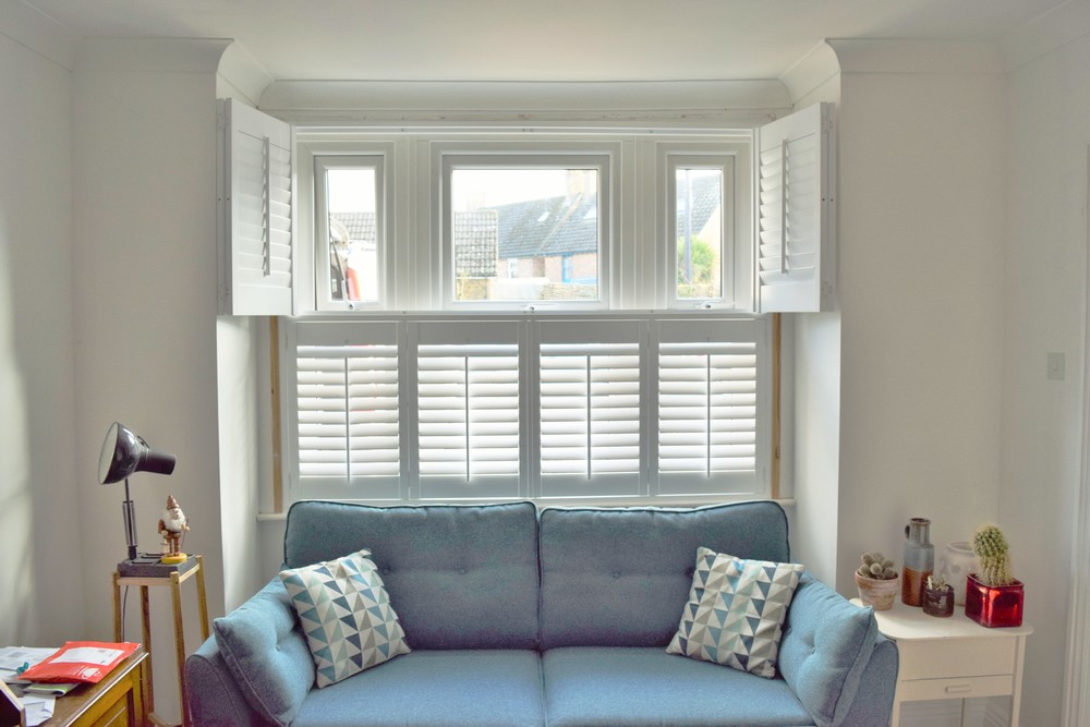 Bay window shutters Wimborne Dorset